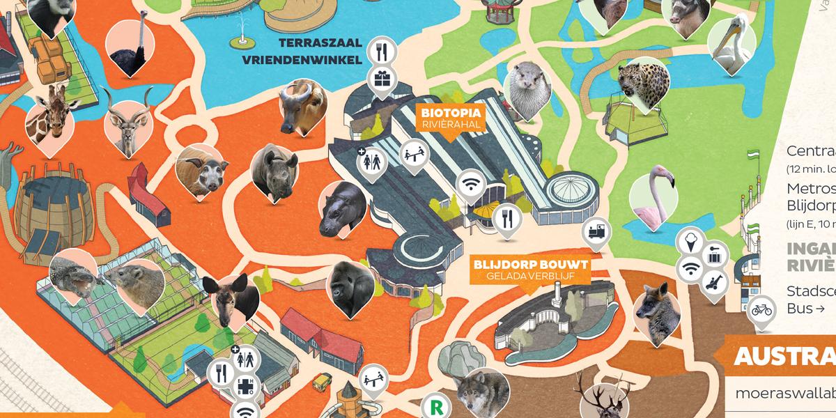 Map Image 01 - Rotterdam Zoo Map