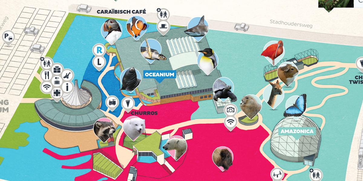 Map Image 02 - Rotterdam Zoo Map