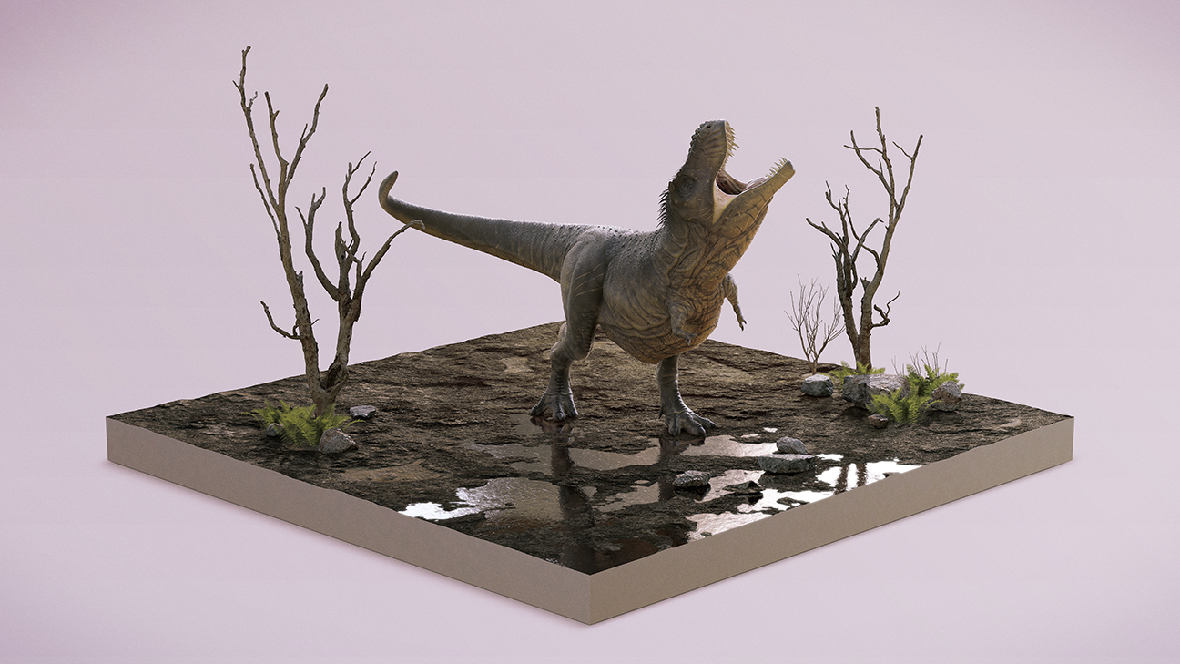 Render 01 - Dinosaur illustrations